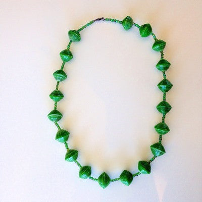 Chunky Bead Necklace - Green