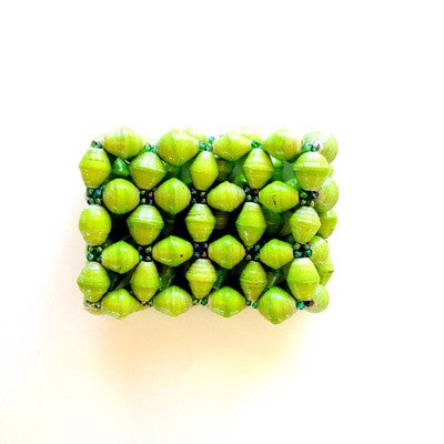 Wide Cuff Bracelet - Lime Green