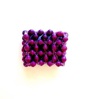Wide Cuff Bracelet - Purple