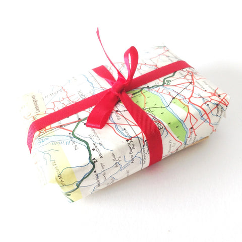 Anoint Lotion Bar - Upcycled Map Wrapping