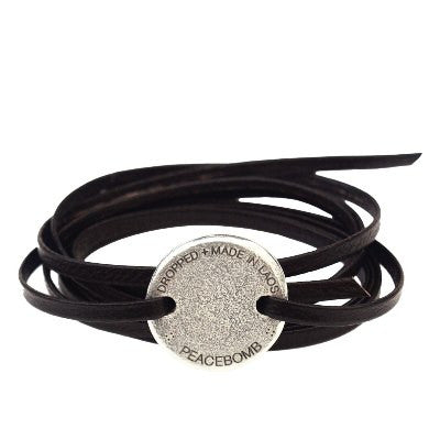 Story Coin Wrap Bracelet - Brown