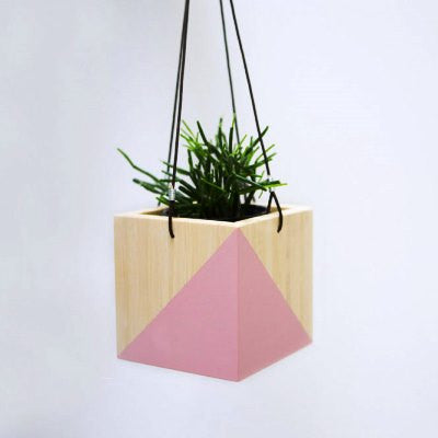 Hanging Planter Box - Light Pink