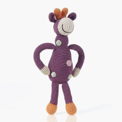 Pebble Organic Giraffe - Soft Purple