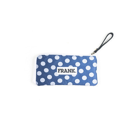 Marco Pencil Case - Blue Polka Dots