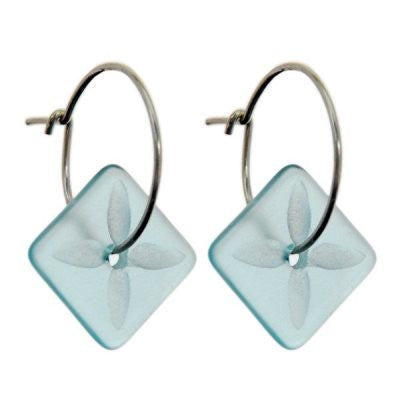 Square Tapa Earrings - Clear