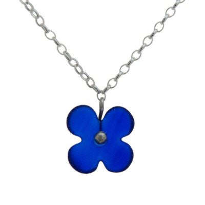 Hydranga Flower Pendant - Dark Blue