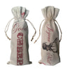 Good cheers and joyeux noel winebags