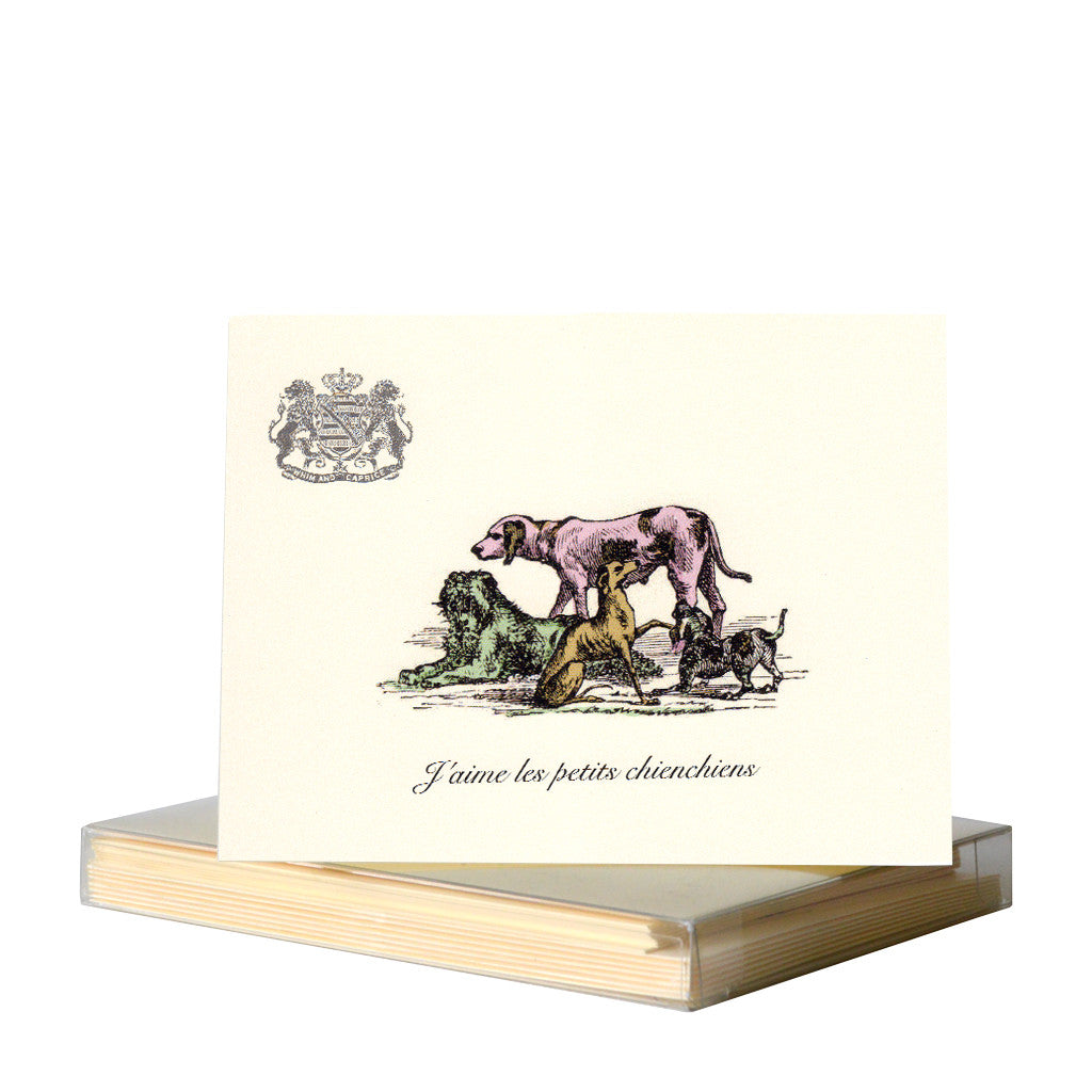 I love the small doggies notecards by Whim & Caprice