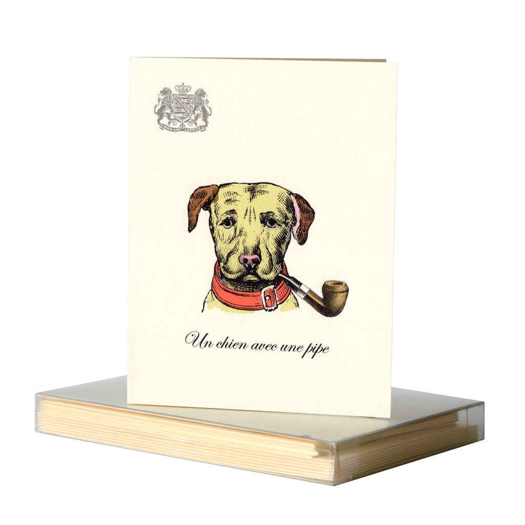Dog With a Pipe Notecards