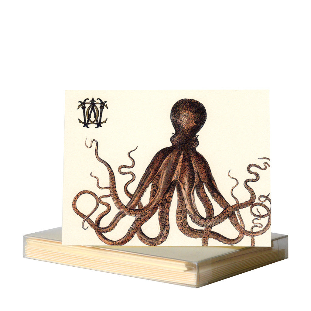 Octopus notecards by Whim & Caprice
