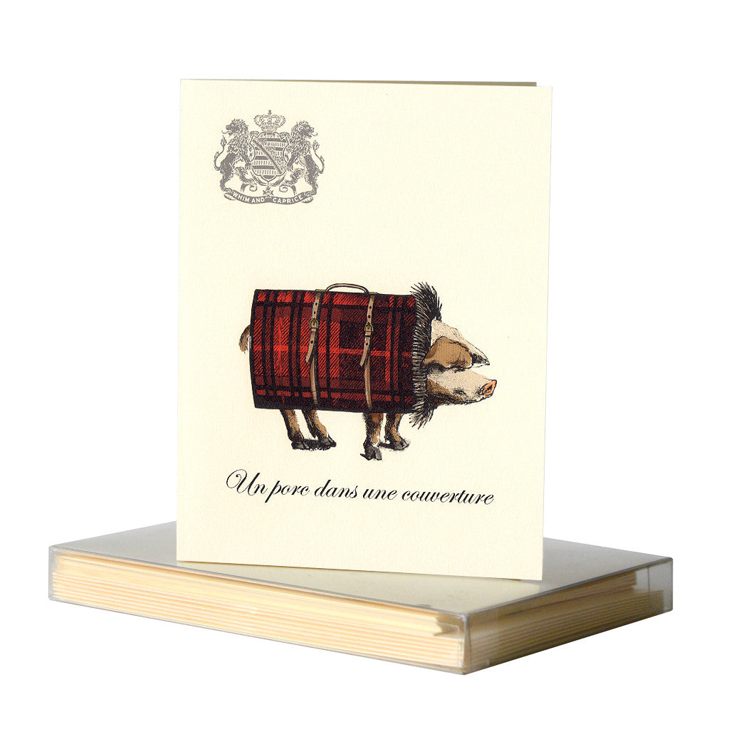 Pig in a blanket notecards by Whim & Caprice
