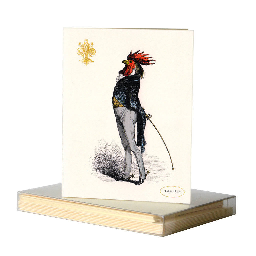 Roosterman notecards by Whim & Caprice