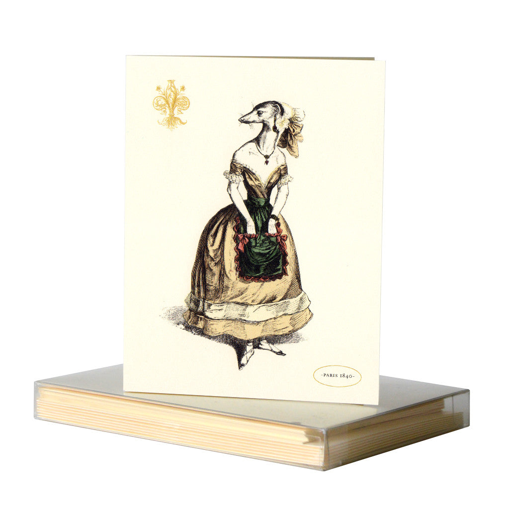 Shrew notecards by Whim & Caprice