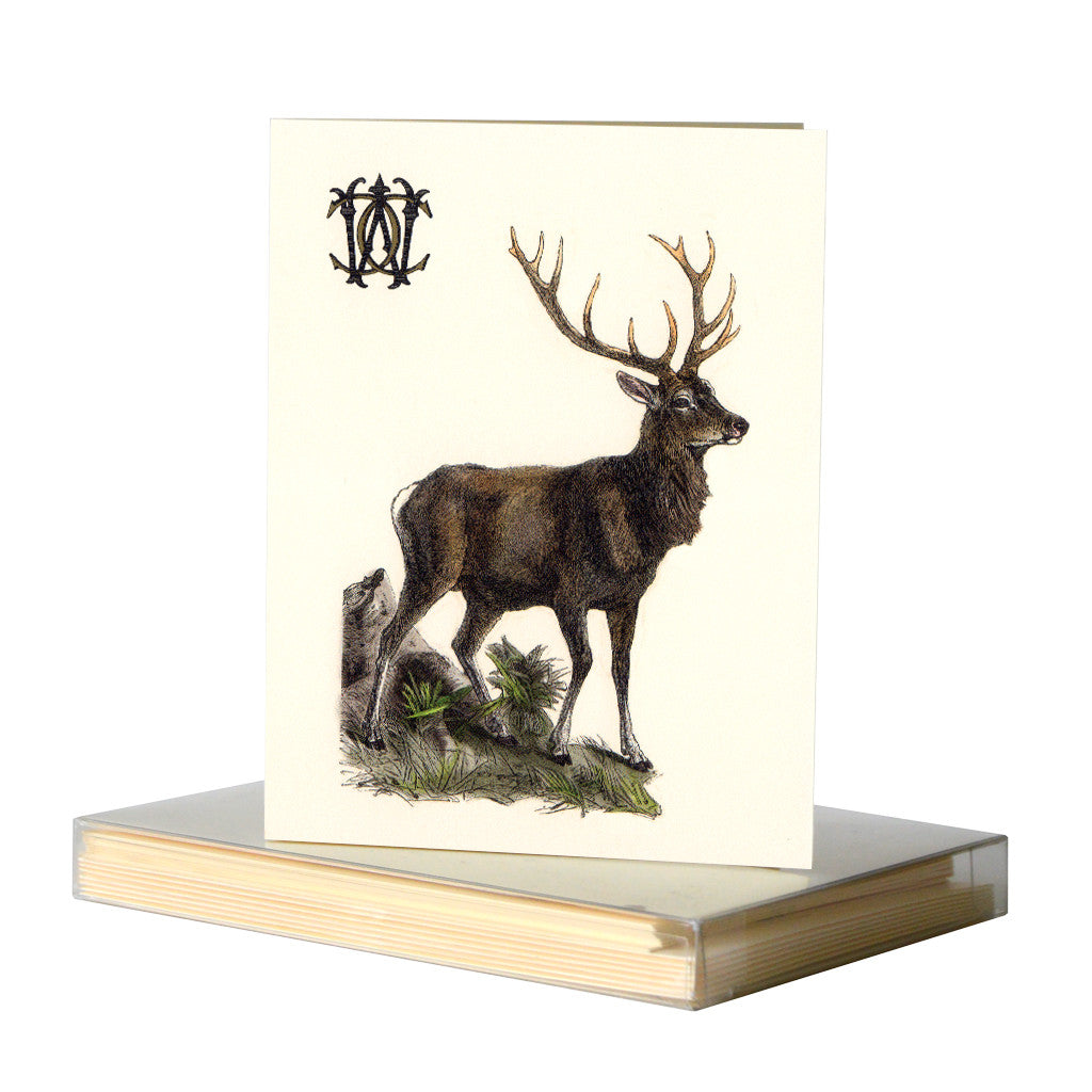 Stag notecards by Whim & Caprice