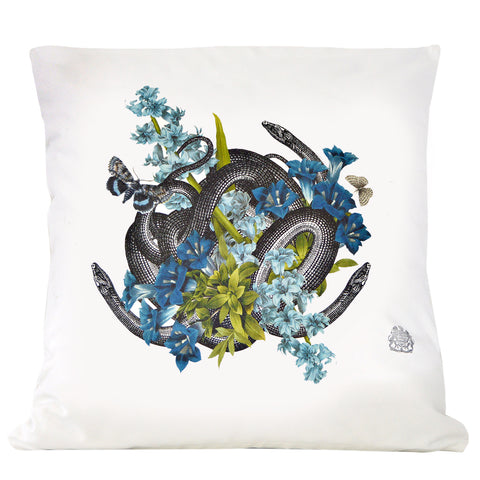 Snakes in Blue Pillow