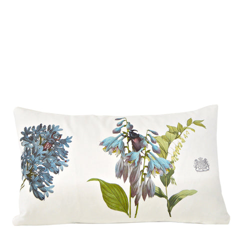 Blue Flowers Pillow - Lumbar