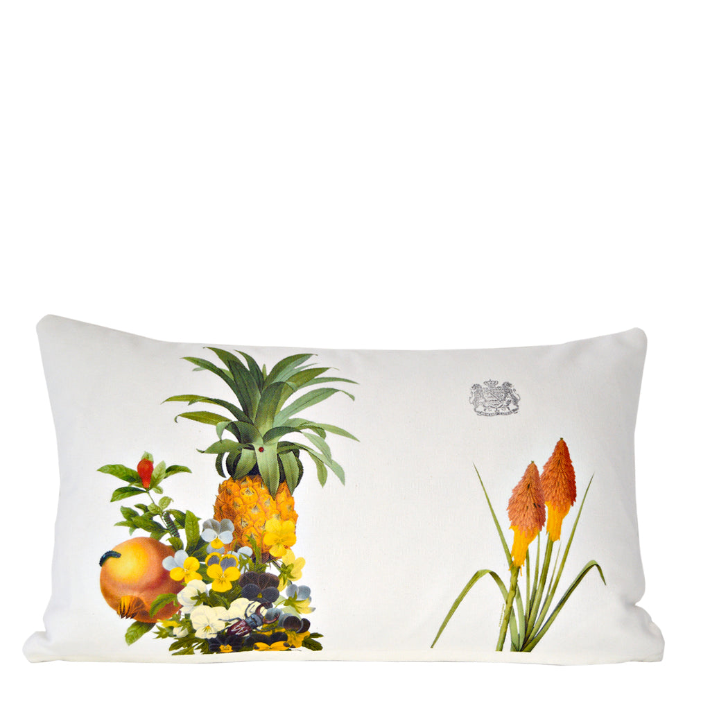 Pineapple and Flowers - Lumbar Pillow