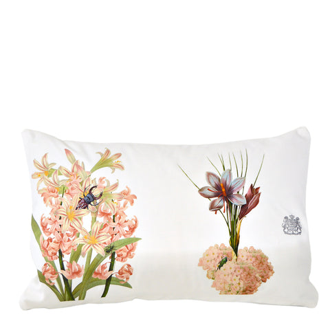 Pink Flowers - Lumbar Pillow