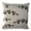 Olive branch pillow by Whim & Caprice