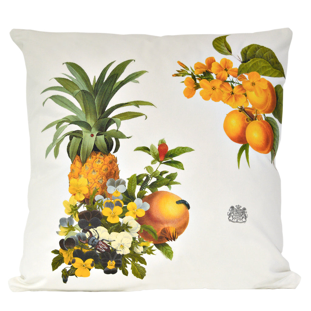 Pineapple and Flowers Pillow