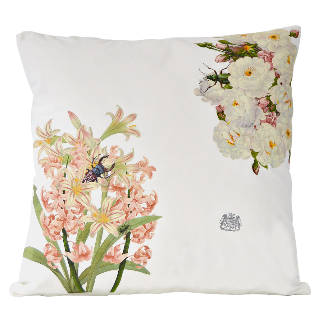 Pink Flowers Pillow