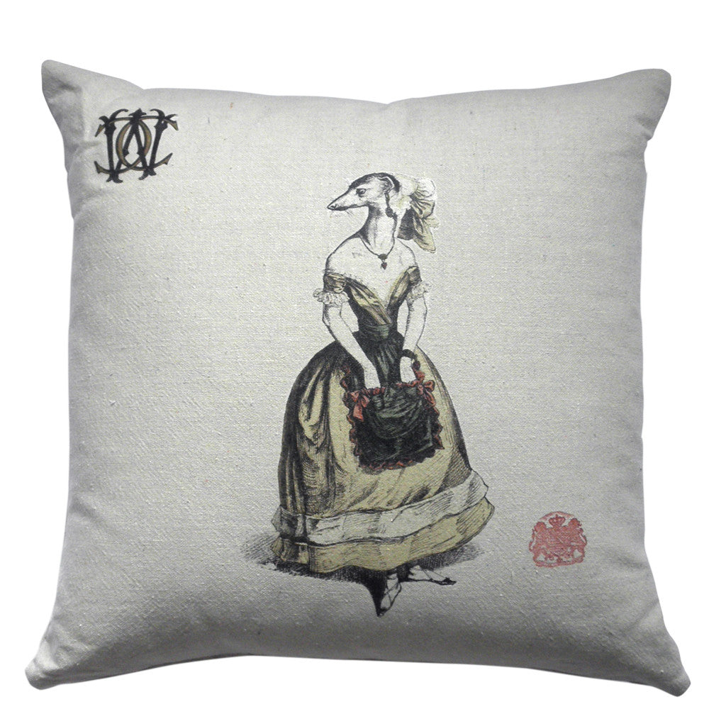 Shrew pillow by Whim & Caprice