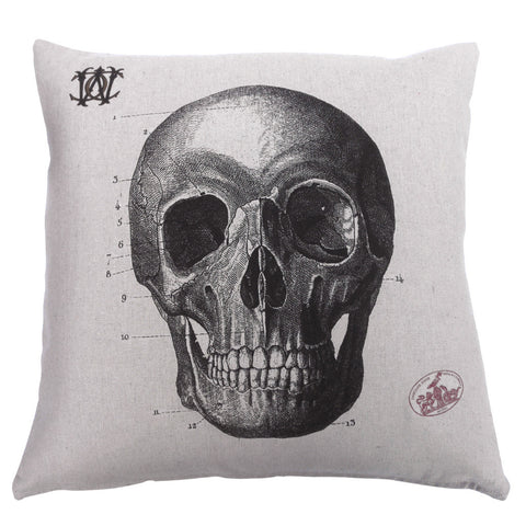 Skull pillow by Whim & Caprice
