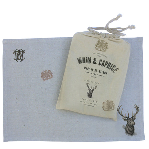 Stag placemats by Whim & Caprice