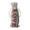 Love red winebag by Whim & Caprice