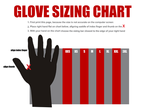 Veridian Glove Sizing Chart