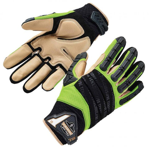 Ergodyne: ProFlex 924LTR Leather-Reinforced Hybrid Dorsal Impact-Reducing Gloves