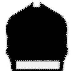 Paul Conway Shields: 6 Inch Notched 1 Bottom Panel Traditional Helmet Shield 6N-1B