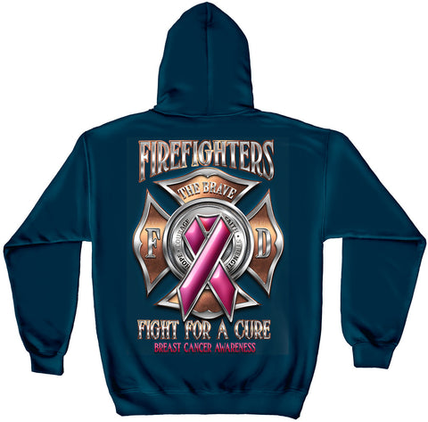 Erazor Bits: Firefighter For the Cure Hooded Sweat Shirt