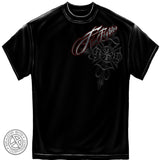 Erazor Bits: Firefighter Red Scrip Foil Stamp Black T-Shirt