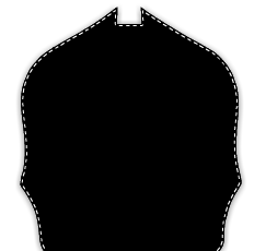 Paul Conway Shields: 6 Inch Notched Traditional Helmet Shield