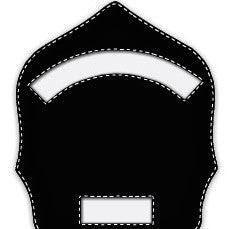 Paul Conway Shields: 6 Inch 2 Panel (Short Bottom Panel) Traditional Helmet Shield