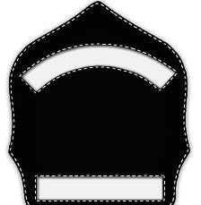 Paul Conway Shields: 6 Inch 2 Panel Traditional Helmet Shield