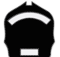 Paul Conway Shields: 6 Inch Notched 2 Panel (Short Bottom Panel) Traditional Helmet Shield 6N-2S