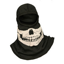 Majestic Fire Apparel: Fire Ink Glow In The Dark Blue Skull Hood