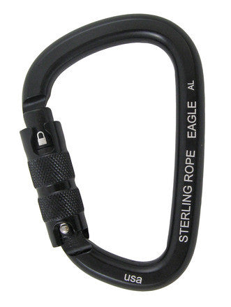 Sterling Rope: Black Eagle Autolock Large Pear Carabiner