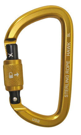 Sterling Rope: Hawk Screwlock Asymm D Carabiner