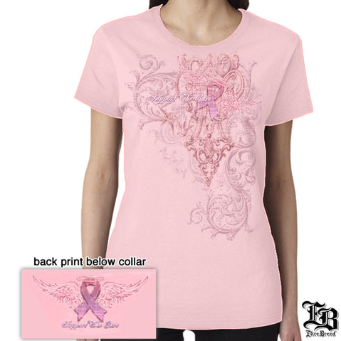 Erazor Bits: Elite Breed Fire Angel Ladies Supprot The Cure T-Shirt
