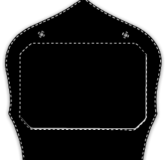 Paul Conway Shields: New York Style Shield with Pinned Insert NYFI-0P