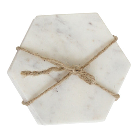 Marble Hex Coasters