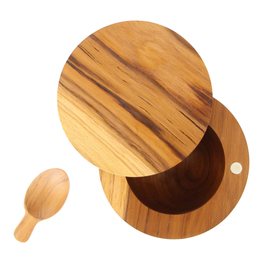 Teak Salt Cellar and Spoon