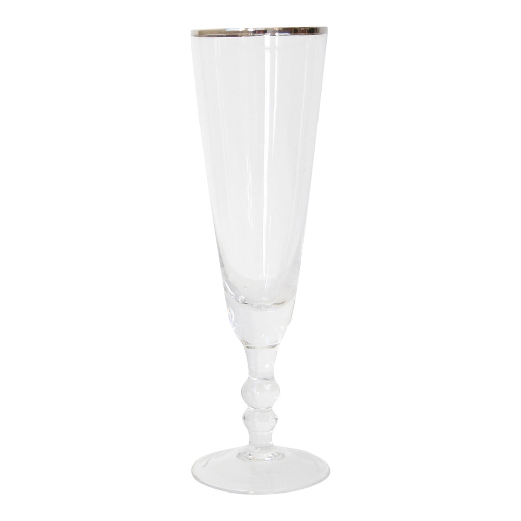 Platinum Champagne Flutes (set of 4)