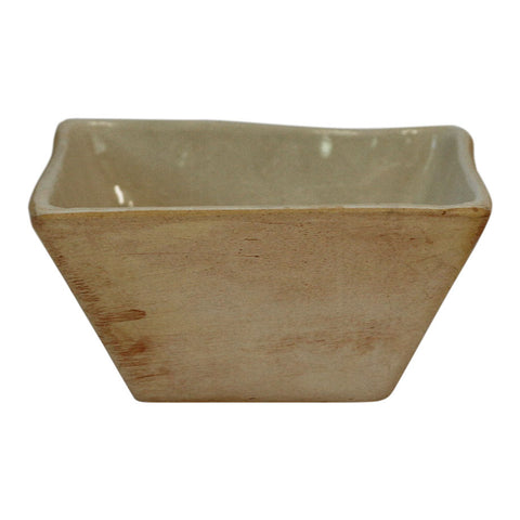Square Dipping Bowl in Cream