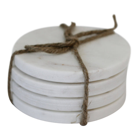 Marble Round Coasters