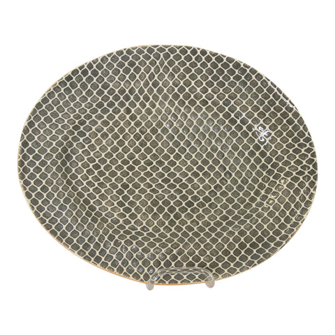 Terrafirma Medium Oval Platter in Charcoal Taj