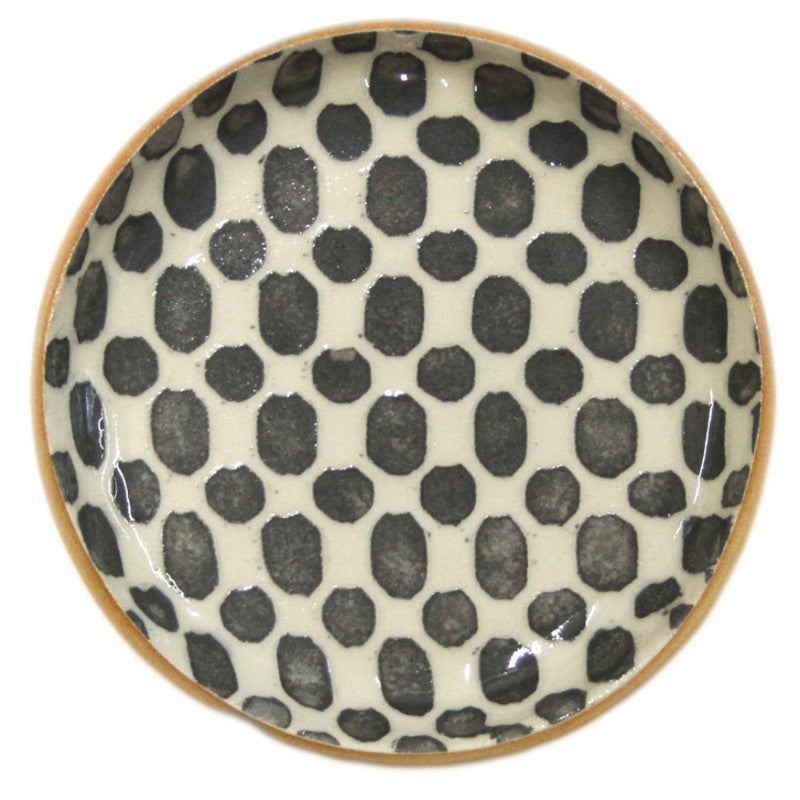 Terrafirma Wine Coaster in Charcoal Dot